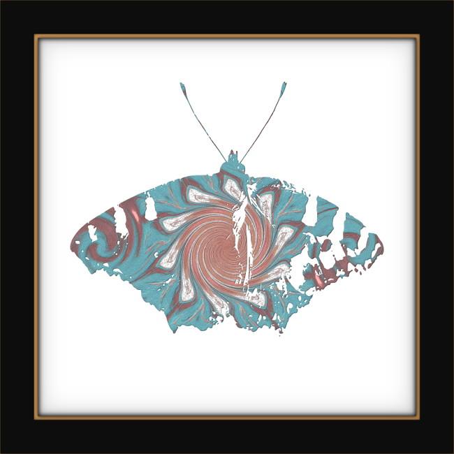[Entomologie chromatique] Papillon #3 [2017] (Création et conception graphique de Didier Desmet) [Artiste Infirme Moteur Cérébral] [Infirmité Motrice Cérébrale] [IMC] [Paralysie Cérébrale] [Cerebral Palsy] [Handicap]