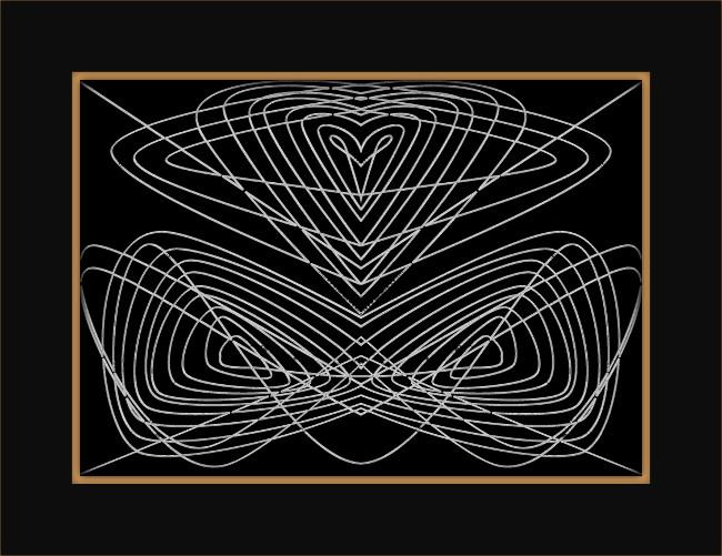 [Entomologie bi-chromatique] Insecte #2 Le papillon [2015-2017] (Création et conception graphique de Didier Desmet) [Artiste Infirme Moteur Cérébral] [Infirmité Motrice Cérébrale] [IMC] [Paralysie Cérébrale] [Cerebral Palsy] [Handicap]