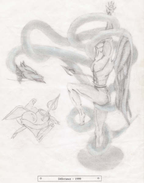 Dessin de Didier Desmet [1999] [Artiste Infirme Moteur Cérébral] [Infirmité Motrice Cérébrale] [IMC] [Paralysie Cérébrale] [Cerebral Palsy] [Handicap]