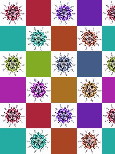 Ancolies, mélancolies [2012] (Création et conception graphique de Didier Desmet) [Motif] [Pattern] [Motifs] [Patterns] [Artiste Infirme Moteur Cérébral] [Infirmité Motrice Cérébrale] [IMC] [Paralysie Cérébrale] [Cerebral Palsy] [Handicap]