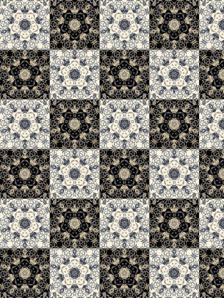Anges gardiens Patchwork [2012] (Création et conception graphique de Didier Desmet) [Motif] [Pattern] [Motifs] [Patterns] [Artiste Infirme Moteur Cérébral] [Infirmité Motrice Cérébrale] [IMC] [Paralysie Cérébrale] [Cerebral Palsy] [Handicap]