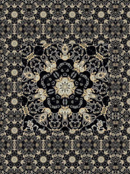 Anges gardiens dorés [2012] (Création et conception graphique de Didier Desmet) [Motif] [Pattern] [Motifs] [Patterns] [Artiste Infirme Moteur Cérébral] [Infirmité Motrice Cérébrale] [IMC] [Paralysie Cérébrale] [Cerebral Palsy] [Handicap]
