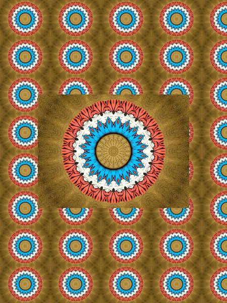 Art nouveau [2012] (Création et conception graphique de Didier Desmet) [Motif] [Pattern] [Motifs] [Patterns] [Artiste Infirme Moteur Cérébral] [Infirmité Motrice Cérébrale] [IMC] [Paralysie Cérébrale] [Cerebral Palsy] [Handicap]