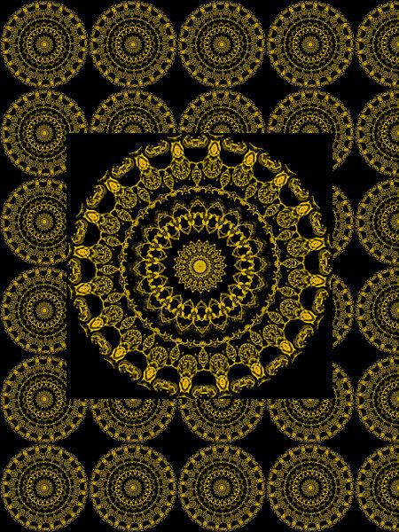 Automne doré [2012] (Création et conception graphique de Didier Desmet) [Motif] [Pattern] [Motifs] [Patterns] [Artiste Infirme Moteur Cérébral] [Infirmité Motrice Cérébrale] [IMC] [Paralysie Cérébrale] [Cerebral Palsy] [Handicap]