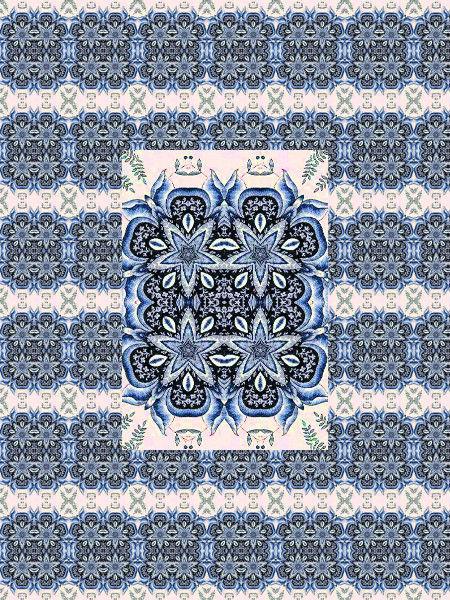 Azulejos [2012] (Création et conception graphique de Didier Desmet) [Motif] [Pattern] [Motifs] [Patterns] [Artiste Infirme Moteur Cérébral] [Infirmité Motrice Cérébrale] [IMC] [Paralysie Cérébrale] [Cerebral Palsy] [Handicap]