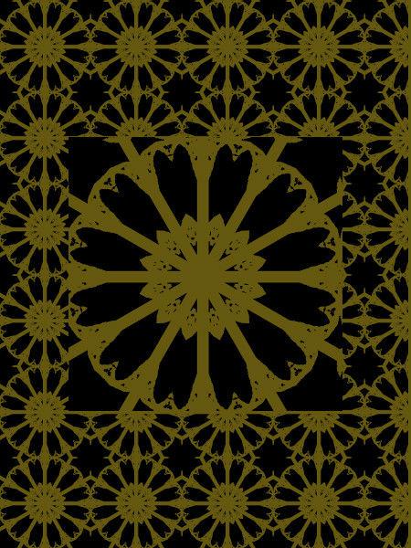 Boutons d`or [2012] (Création et conception graphique de Didier Desmet) [Motif] [Pattern] [Motifs] [Patterns] [Artiste Infirme Moteur Cérébral] [Infirmité Motrice Cérébrale] [IMC] [Paralysie Cérébrale] [Cerebral Palsy] [Handicap]
