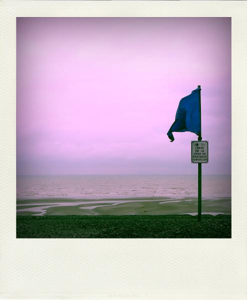 Cayeux-sur-mer - Limite de la zone de baignade surveillée (Somme - 80410) [2011] (Photo de Didier Desmet) Drapeau bleu Aot Pola [Artiste Infirme Moteur Cérébral] [Infirmité Motrice Cérébrale] [IMC] [Paralysie Cérébrale] [Cerebral Palsy] [Handicap]