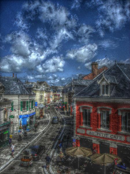 Cayeux-sur-mer - Vue sur le kiosque (Somme - 80410) [2011] (Photo de Didier Desmet) HDR [Artiste Infirme Moteur Cérébral] [Infirmité Motrice Cérébrale] [IMC] [Paralysie Cérébrale] [Cerebral Palsy] [Handicap]