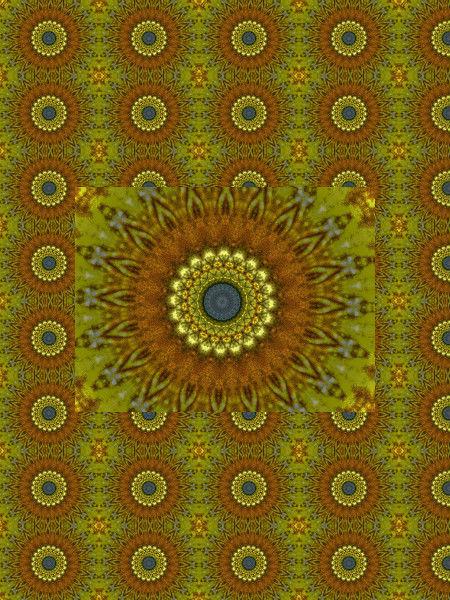 Chrysanthèmes dorés [2012] (Création et conception graphique de Didier Desmet) [Motif] [Pattern] [Motifs] [Patterns] [Artiste Infirme Moteur Cérébral] [Infirmité Motrice Cérébrale] [IMC] [Paralysie Cérébrale] [Cerebral Palsy] [Handicap]