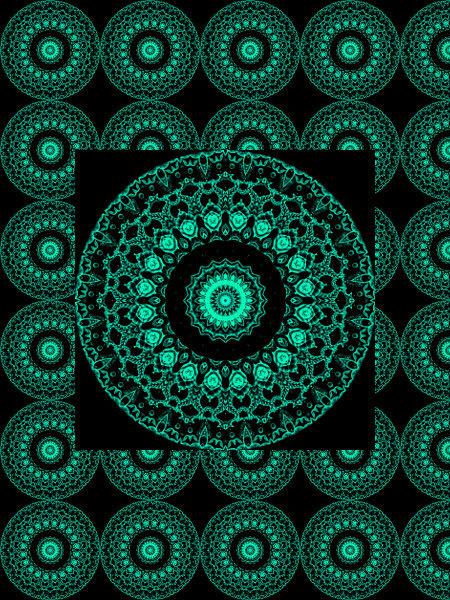 Constellation florale [2012] (Création et conception graphique de Didier Desmet) [Motif] [Pattern] [Motifs] [Patterns] [Artiste Infirme Moteur Cérébral] [Infirmité Motrice Cérébrale] [IMC] [Paralysie Cérébrale] [Cerebral Palsy] [Handicap]
