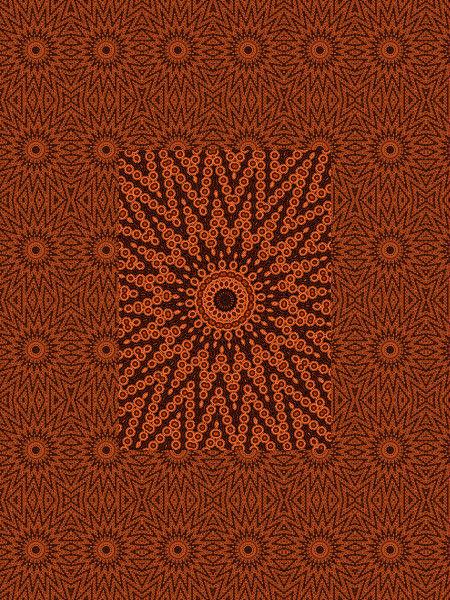 Cosmogonie aborigène [2012] (Création et conception graphique de Didier Desmet) [Motif] [Pattern] [Motifs] [Patterns] [Artiste Infirme Moteur Cérébral] [Infirmité Motrice Cérébrale] [IMC] [Paralysie Cérébrale] [Cerebral Palsy] [Handicap]