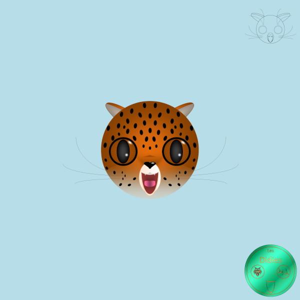 Didies [Animaux] Jaguar [2016-2018] (Création et conception graphique de Didier Desmet) [Artiste Infirme Moteur Cérébral] [Infirmité Motrice Cérébrale] [IMC] [Paralysie Cérébrale] [Cerebral Palsy] [Handicap] [Kawaii]
