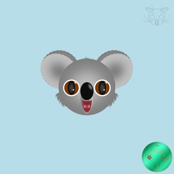 Didies [Animaux] Koala [2012-2016-2018] (Création et conception graphique de Didier Desmet) [Artiste Infirme Moteur Cérébral] [Infirmité Motrice Cérébrale] [IMC] [Paralysie Cérébrale] [Cerebral Palsy] [Handicap] [Kawaii]