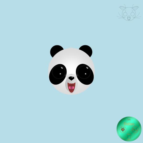Didies [Animaux] Panda [2012-2016-2018] (Création et conception graphique de Didier Desmet) [Artiste Infirme Moteur Cérébral] [Infirmité Motrice Cérébrale] [IMC] [Paralysie Cérébrale] [Cerebral Palsy] [Handicap] [Kawaii]