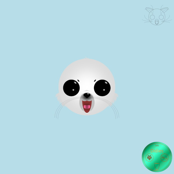 Didies [Animaux] Phoque blanc [2018] (Création et conception graphique de Didier Desmet)