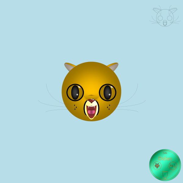 Didies [Animaux] Puma [2016-2018] (Création et conception graphique de Didier Desmet) [Artiste Infirme Moteur Cérébral] [Infirmité Motrice Cérébrale] [IMC] [Paralysie Cérébrale] [Cerebral Palsy] [Handicap] [Kawaii]