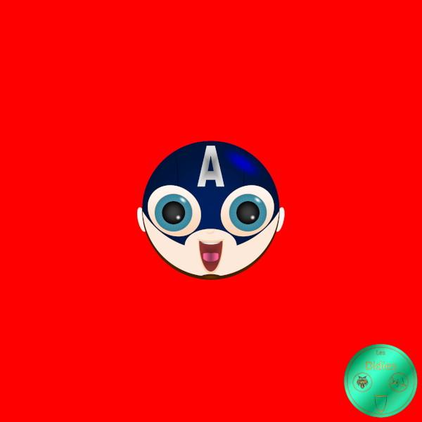 Didies [Avengers (Marvel`s The Avengers) ,2012] Steve Rogers alias Captain America (interpr. Chris Evans) [2016-2018] (Création et conception graphique de Didier Desmet) [Artiste Infirme Moteur Cérébral] [Infirmité Motrice Cérébrale] [IMC] [Paralysie Cérébrale] [Cerebral Palsy] [Handicap] [Kawaii]
