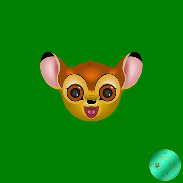 Didies [Bambi, Walt Disney, 1942] Bambi [2020] (Création et conception graphique de Didier Desmet) [Artiste Infirme Moteur Cérébral] [Infirmité Motrice Cérébrale] [IMC] [Paralysie Cérébrale] [Cerebral Palsy] [Handicap] [Kawaii]