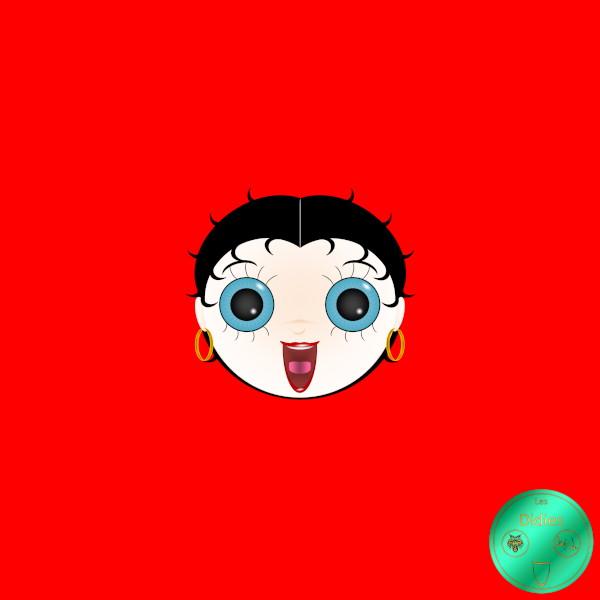 Didies [Betty Boop, personnage créé par les Fleischer Studios en 1930] Betty Boop [2018-2019] (Création et conception graphique de Didier Desmet) [Artiste Infirme Moteur Cérébral] [Infirmité Motrice Cérébrale] [IMC] [Paralysie Cérébrale] [Cerebral Palsy] [Handicap] [Kawaii]
