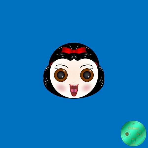 Didies [Blanche-Neige et les sept nains (Snow White and the Seven Dwarfs), Walt Disney, 1937] Blanche-Neige [2018] (Création et conception graphique de Didier Desmet) [Artiste Infirme Moteur Cérébral] [Infirmité Motrice Cérébrale] [IMC] [Paralysie Cérébrale] [Cerebral Palsy] [Handicap] [Kawaii]