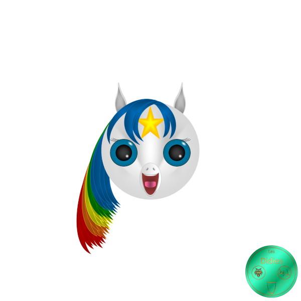 Didies [Blondine au pays de l`arc-en-ciel (Rainbow Brite), 1986] Tagada [2018] (Création et conception graphique de Didier Desmet) [Artiste Infirme Moteur Cérébral] [Infirmité Motrice Cérébrale] [IMC] [Paralysie Cérébrale] [Cerebral Palsy] [Handicap] [Kawaii]