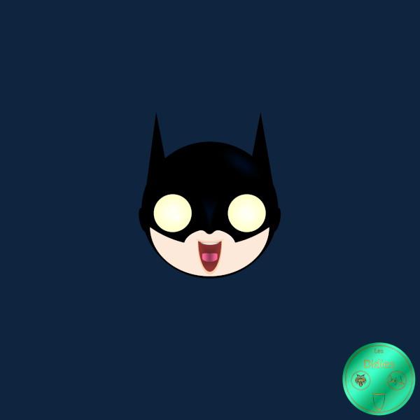 Didies [DC Comics] Bruce Wayne alias Batman [2014-2016-2018] (Création et conception graphique de Didier Desmet) [Artiste Infirme Moteur Cérébral] [Infirmité Motrice Cérébrale] [IMC] [Paralysie Cérébrale] [Cerebral Palsy] [Handicap] [Kawaii]