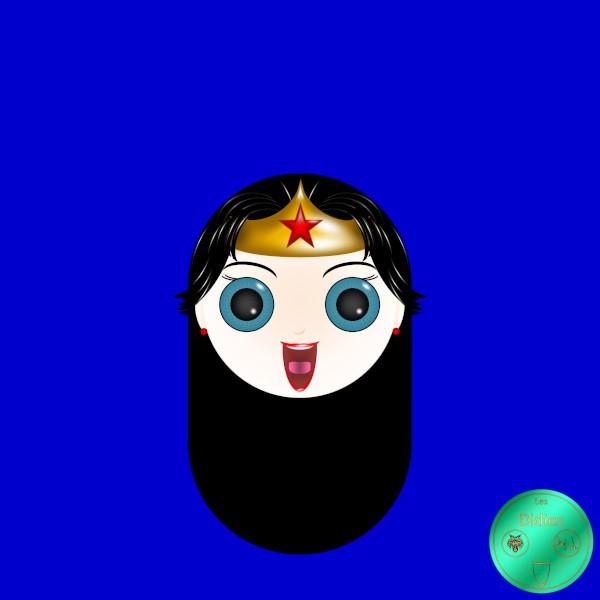 Didies [DC Comics] Diana Prince alias Wonder Woman [2014-2016-2018] (Création et conception graphique de Didier Desmet) [Artiste Infirme Moteur Cérébral] [Infirmité Motrice Cérébrale] [IMC] [Paralysie Cérébrale] [Cerebral Palsy] [Handicap] [Kawaii]