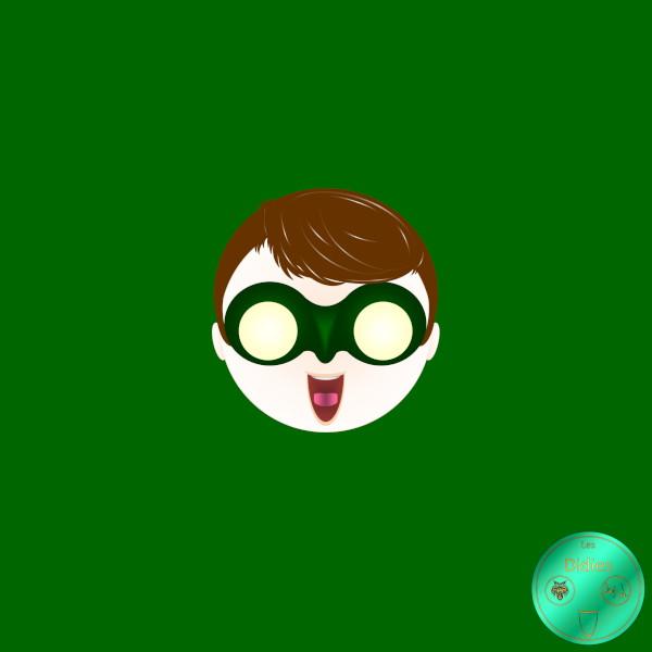 Didies [DC Comics] Hal Jordan alias Green Lantern [2014-2016-2018] (Création et conception graphique de Didier Desmet) [Artiste Infirme Moteur Cérébral] [Infirmité Motrice Cérébrale] [IMC] [Paralysie Cérébrale] [Cerebral Palsy] [Handicap] [Kawaii]