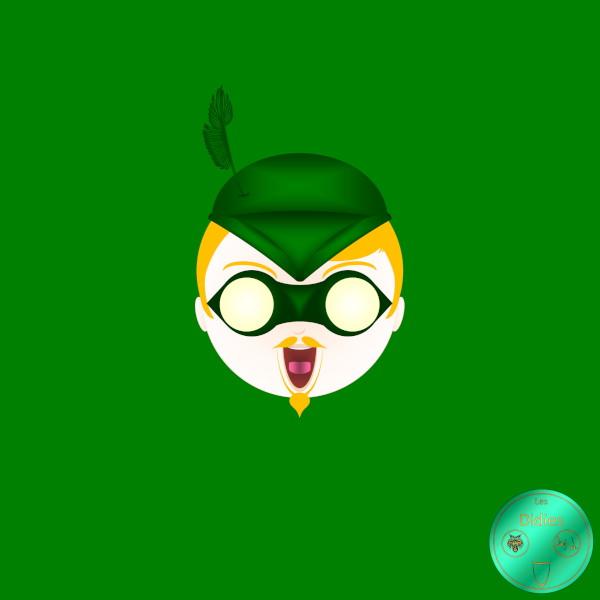 Didies [DC Comics] Oliver Quinn alias Green Arrow [2014-2016-2018] (Création et conception graphique de Didier Desmet) [Artiste Infirme Moteur Cérébral] [Infirmité Motrice Cérébrale] [IMC] [Paralysie Cérébrale] [Cerebral Palsy] [Handicap] [Kawaii]