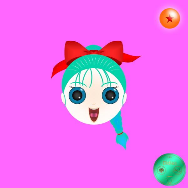 Didies [Dragon Ball (Doragon Bru Zetto),1984 et DBZ, 1988] Bulma (Buruma) (1984) [2018] (Création et conception graphique de Didier Desmet) [Artiste Infirme Moteur Cérébral] [Infirmité Motrice Cérébrale] [IMC] [Paralysie Cérébrale] [Cerebral Palsy] [Handicap] [Kawaii]