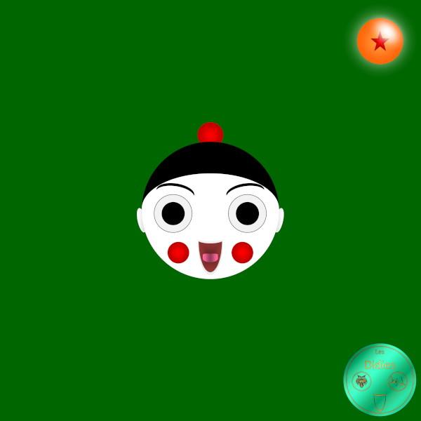 Didies [Dragon Ball (Doragon Bru Zetto),1984 et DBZ, 1988] Chaozu [2018] (Création et conception graphique de Didier Desmet) [Artiste Infirme Moteur Cérébral] [Infirmité Motrice Cérébrale] [IMC] [Paralysie Cérébrale] [Cerebral Palsy] [Handicap] [Kawaii]