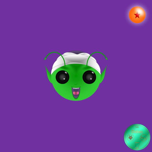 Didies [Dragon Ball (Doragon Bru Zetto),1984 et DBZ, 1988] Piccolo (Pikkoro) alias Satan Petit-Cur [2016-2018] (Créa. et c. graphique de Didier Desmet) [Artiste Infirme Moteur Cérébral] [Infirmité Motrice Cérébrale] [IMC] [Paralysie Cérébrale] [Cerebral Palsy] [Handicap] [Kawaii]