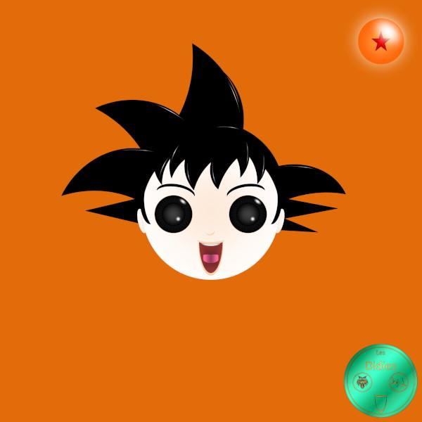 Didies [Dragon Ball (Doragon Bru Zetto),1984 et DBZ, 1988] Son Goku (Son Gok) ou Kakarot (Kakarotto) [2014-2016-2018] (Création et conception graphique de Didier Desmet) [Artiste Infirme Moteur Cérébral] [Infirmité Motrice Cérébrale] [IMC] [Paralysie Cérébrale] [Cerebral Palsy] [Handicap] [Kawaii]