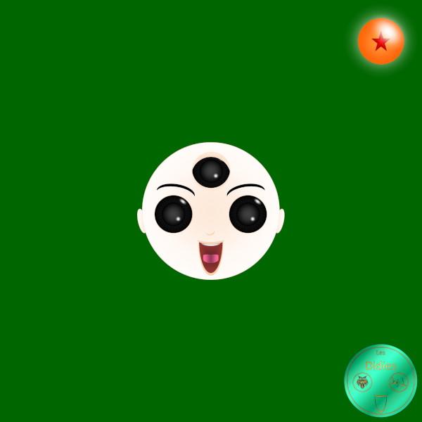 Didies [Dragon Ball (Doragon Bru Zetto),1984 et DBZ, 1988] Ten Shin Han (Tenshinhan) [2016-2018] (Création et conception graphique de Didier Desmet) [Artiste Infirme Moteur Cérébral] [Infirmité Motrice Cérébrale] [IMC] [Paralysie Cérébrale] [Cerebral Palsy] [Handicap] [Kawaii]