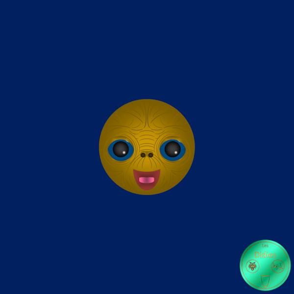 Didies [E.T., L`Extraterrestre, 1982] E.T. [2017-2018] (Création et conception graphique de Didier Desmet) [Artiste Infirme Moteur Cérébral] [Infirmité Motrice Cérébrale] [IMC] [Paralysie Cérébrale] [Cerebral Palsy] [Handicap] [Kawaii]