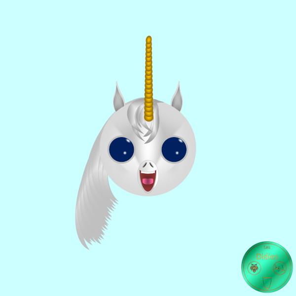 Didies [Fantastique] Licorne [2017-2018] (Création et conception graphique de Didier Desmet) [Artiste Infirme Moteur Cérébral] [Infirmité Motrice Cérébrale] [IMC] [Paralysie Cérébrale] [Cerebral Palsy] [Handicap] [Kawaii]