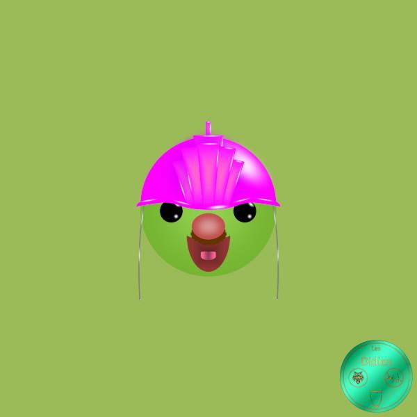 Didies [Fraggle Rock (Jim Henson`s Fraggle Rock), 1983] Doozer moustachu [2019] (Création et conception graphique de Didier Desmet) [Artiste Infirme Moteur Cérébral] [Infirmité Motrice Cérébrale] [IMC] [Paralysie Cérébrale] [Cerebral Palsy] [Handicap] [Kawaii]