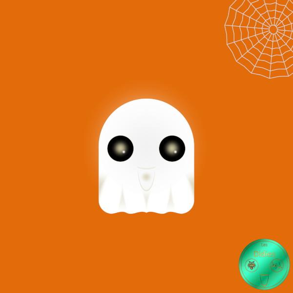 Didies [Halloween] Le fantôme [2016-2018] (Création et conception graphique de Didier Desmet) [Artiste Infirme Moteur Cérébral] [Infirmité Motrice Cérébrale] [IMC] [Paralysie Cérébrale] [Cerebral Palsy] [Handicap] [Kawaii]