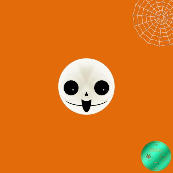 Didies [Halloween] Le squelette [2016-2018] (Création et conception graphique de Didier Desmet) [Artiste Infirme Moteur Cérébral] [Infirmité Motrice Cérébrale] [IMC] [Paralysie Cérébrale] [Cerebral Palsy] [Handicap] [Kawaii]