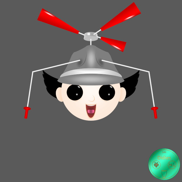 Didies [Inspecteur Gadget (Inspector Gadget), 1983] Inspecteur Gadget (Inspector Gadget) [2019-2020] (Création et conception graphique de Didier Desmet) [Artiste Infirme Moteur Cérébral] [Infirmité Motrice Cérébrale] [IMC] [Paralysie Cérébrale] [Cerebral Palsy] [Handicap] [Kawaii]