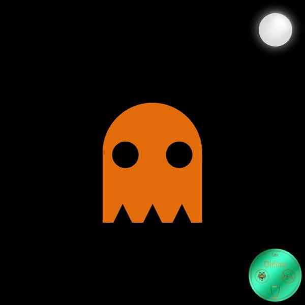 Didies [Jeux] Clyde - Pokey (Limité) (Jeu Video Pac-Man, Namco, 1980) [2018] (Création et conception graphique de Didier Desmet) [Artiste Infirme Moteur Cérébral] [Infirmité Motrice Cérébrale] [IMC] [Paralysie Cérébrale] [Cerebral Palsy] [Handicap] [Kawaii]