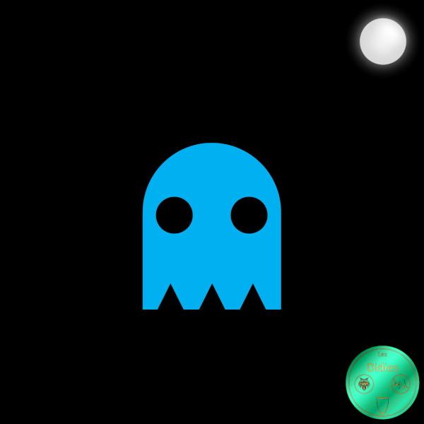 Didies [Jeux] Inky - Bashful (Timide) (Jeu Video Pac-Man, Namco, 1980) [2018] (Création et conception graphique de Didier Desmet) [Artiste Infirme Moteur Cérébral] [Infirmité Motrice Cérébrale] [IMC] [Paralysie Cérébrale] [Cerebral Palsy] [Handicap] [Kawaii]