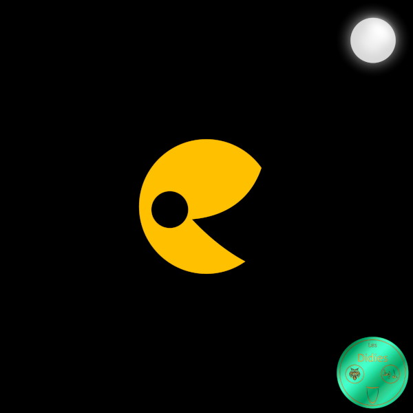 Didies [Jeux] Pac-Man (Jeu Video Pac-Man, Namco, 1980) [2018] (Création et conception graphique de Didier Desmet) [Artiste Infirme Moteur Cérébral] [Infirmité Motrice Cérébrale] [IMC] [Paralysie Cérébrale] [Cerebral Palsy] [Handicap] [Kawaii]