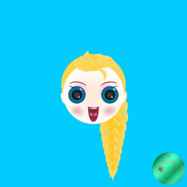Didies [La reine des neiges (Frozen), Walt Disney, 2013] Elsa [2018] (Création et conception graphique de Didier Desmet) [Artiste Infirme Moteur Cérébral] [Infirmité Motrice Cérébrale] [IMC] [Paralysie Cérébrale] [Cerebral Palsy] [Handicap] [Kawaii]