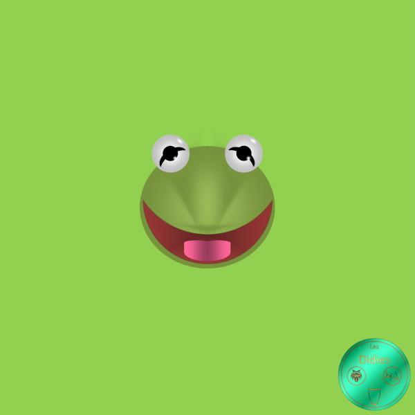 Didies [Le Muppet Show (The Muppet Show), 1976] Kermit, la grenouille (Kermit the frog) [2018] (Création et conception graphique de Didier Desmet) [Artiste Infirme Moteur Cérébral] [Infirmité Motrice Cérébrale] [IMC] [Paralysie Cérébrale] [Cerebral Palsy] [Handicap] [Kawaii]