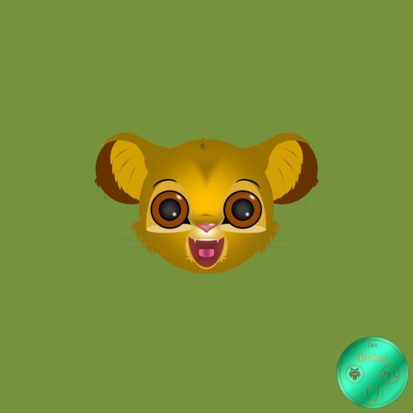 Didies [Le roi lion (The Lion King), Walt Disney, 1994] Simba [2018] (Création et conception graphique de Didier Desmet) [Artiste Infirme Moteur Cérébral] [Infirmité Motrice Cérébrale] [IMC] [Paralysie Cérébrale] [Cerebral Palsy] [Handicap] [Kawaii]