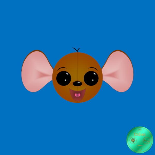 Didies [Les aventures de Winnie l`ourson (The Many Adventures of Winnie the Pooh), Walt Disney, 1977] Petit Gourou [2019] (Création et conception graphique de Didier Desmet) [Artiste Infirme Moteur Cérébral] [Infirmité Motrice Cérébrale] [IMC] [Paralysie Cérébrale] [Cerebral Palsy] [Handicap] [Kawaii]