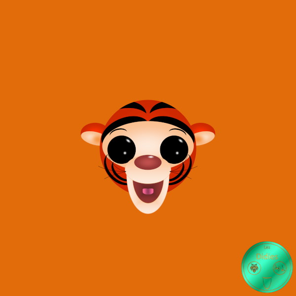 Didies [Les aventures de Winnie l`ourson (The Many Adventures of Winnie the Pooh), Walt Disney, 1977] Tigrou [2019] (Création et conception graphique de Didier Desmet) [Artiste Infirme Moteur Cérébral] [Infirmité Motrice Cérébrale] [IMC] [Paralysie Cérébrale] [Cerebral Palsy] [Handicap] [Kawaii]