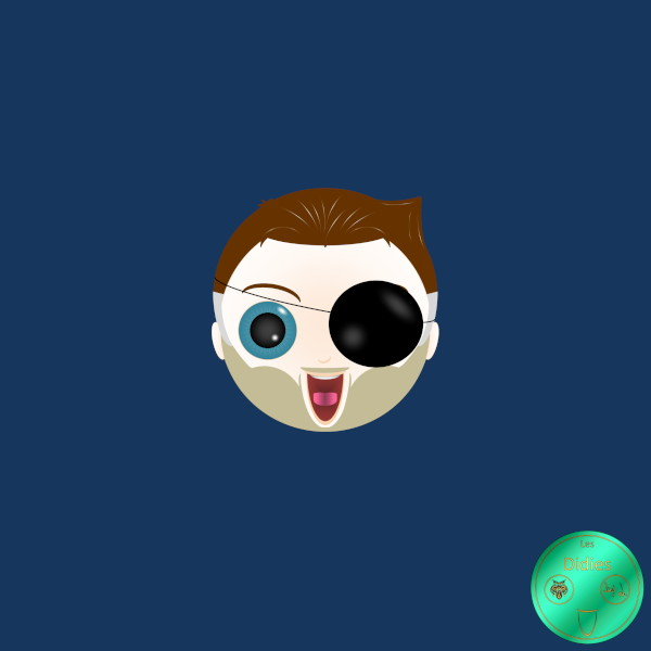 Didies [Marvel Comics] Nick Fury (S.H.I.E.L.D.) [2014-2016-2018] (Création et conception graphique de Didier Desmet) [Artiste Infirme Moteur Cérébral] [Infirmité Motrice Cérébrale] [IMC] [Paralysie Cérébrale] [Cerebral Palsy] [Handicap] [Kawaii]