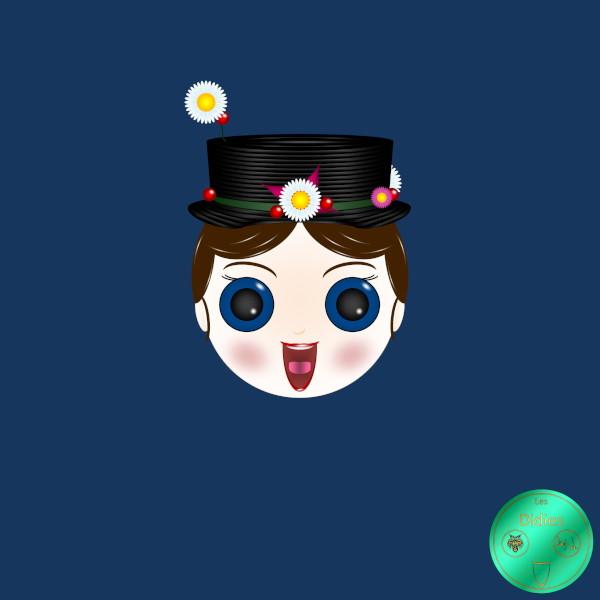 Didies [Mary Poppins, Walt Disney, 1964] Mary Poppins (interprétée par Julie Andrews) [2018] (Création et conception graphique de Didier Desmet) [Artiste Infirme Moteur Cérébral] [Infirmité Motrice Cérébrale] [IMC] [Paralysie Cérébrale] [Cerebral Palsy] [Handicap] [Kawaii]